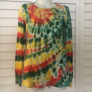 Lucky Brand Tie Dyed Top